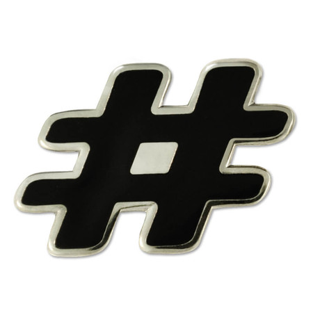 Hashtag # Pin Front