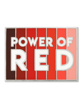 Power Of Red Pin Front
