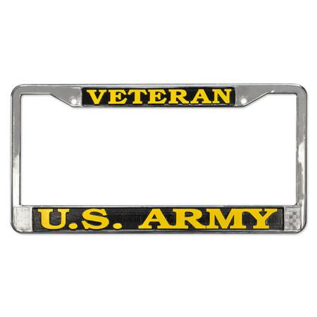 Army Veteran License Plate Frame