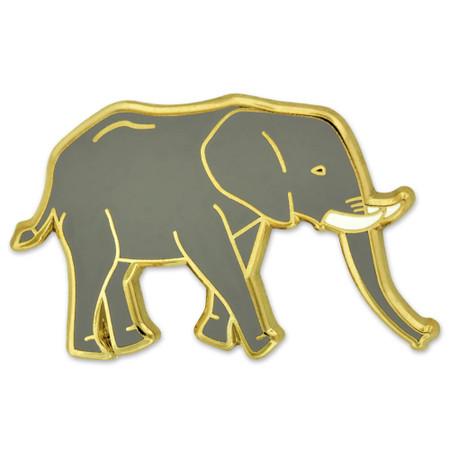 Enamel Elephant Pin Front