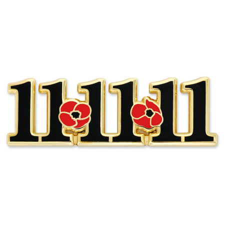 11-11-11 Remembrance day pin Front