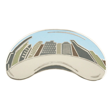 Chicago Bean Pin Front