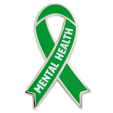 Awareness Ribbon Pin - Mental Health Front