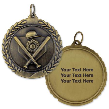Baseball Medal - Engravable gold