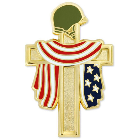 Fallen Heroes Cross Pin Front