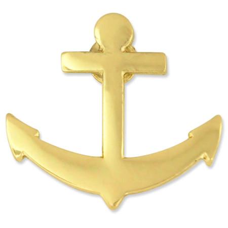 Gold Anchor Pin Front