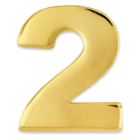 Gold Number 2 Pin Front