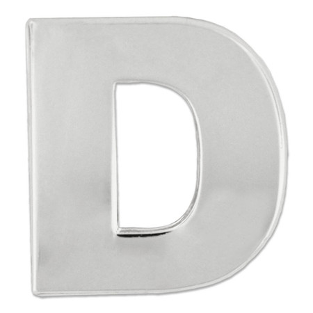 Silver D Pin Front