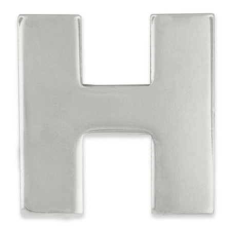 Silver H Pin Front