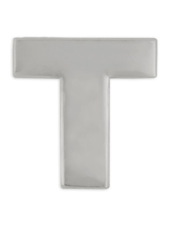Silver T Pin Front