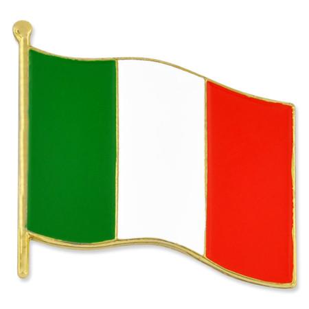 Italian Flag Pin Front