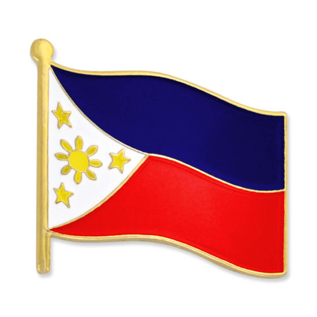 Philippines Flag Pin Front