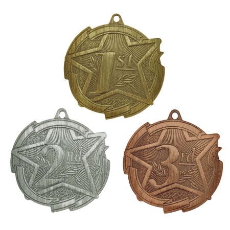 1st 2nd and 3rd Place Medals - Engravable