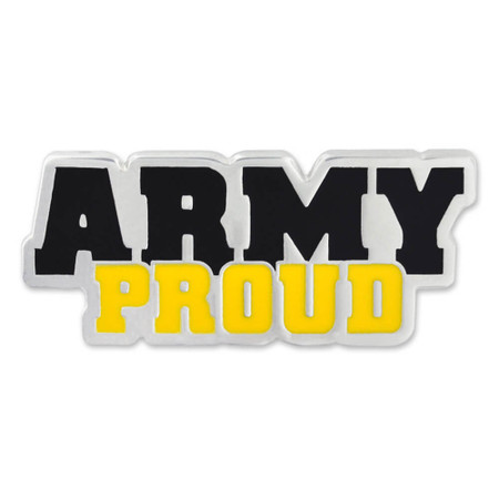 Army PROUD Pin Front