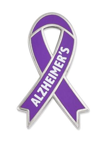 Awareness Ribbon Pin - Alzheimer's Front