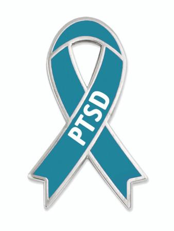 PTSD Awareness Ribbon Pin Front