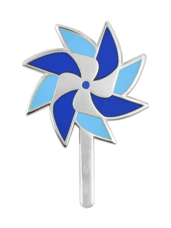 Child Abuse Prevention Pinwheel Pin Front