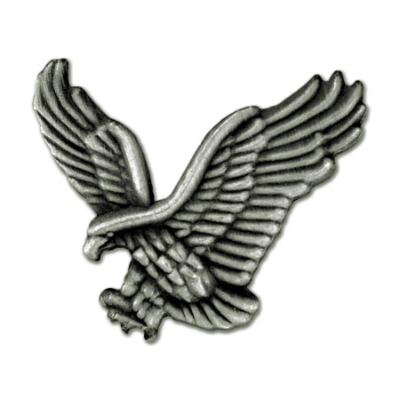 Eagle Pin - Silver Front
