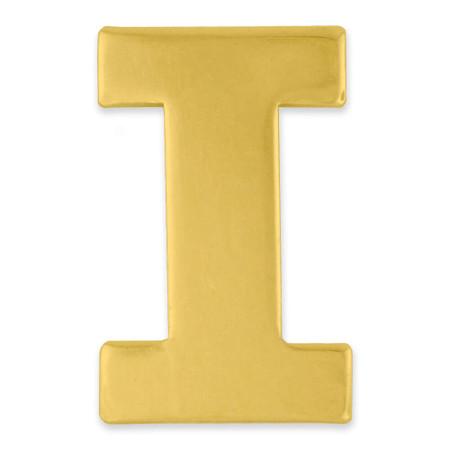 Gold I Pin Front