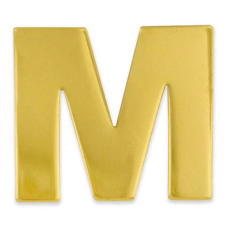 Gold M Pin Front