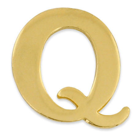 Gold Q Pin Front