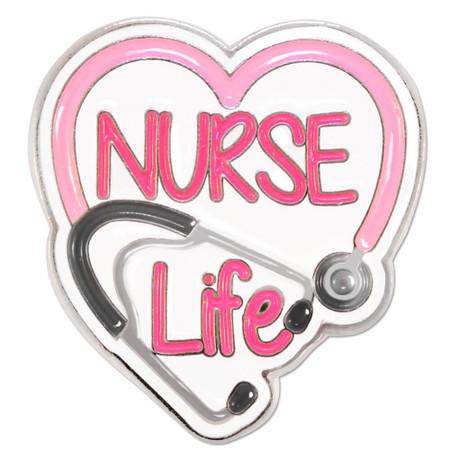 Nurse Life Pin Front