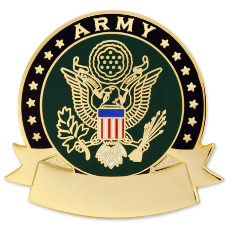 Army Pin - Engravable Front