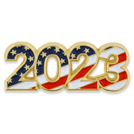 2023 Patriotic Year Pin Front