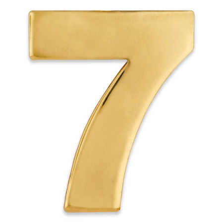 Gold Number 7 Pin Front