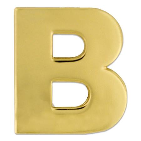 Gold B Pin Front