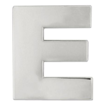 Silver E Pin Front