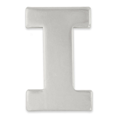 Silver I Pin Front