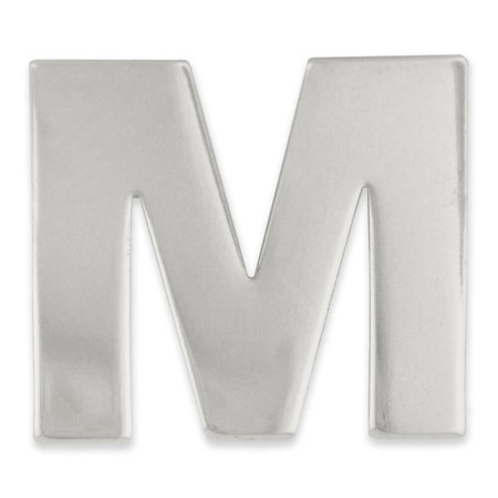 Silver M Front