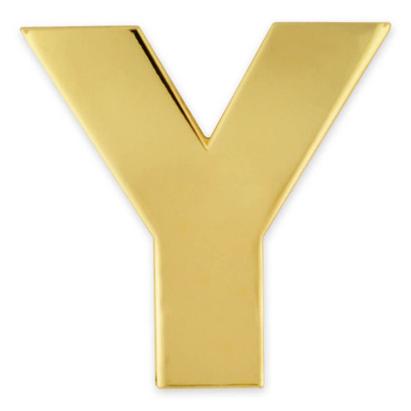 Gold Y Pin Front