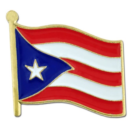 Puerto Rico Flag Pin Front