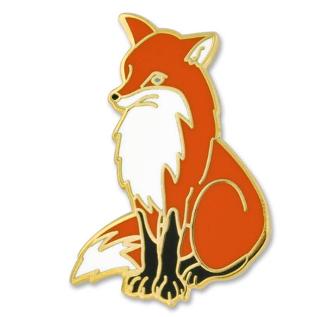 Fox Lapel Pin Front