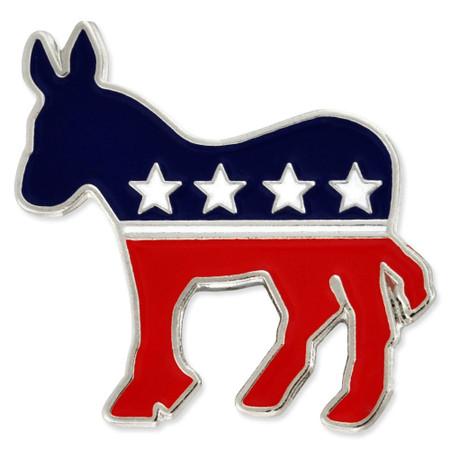 Democrat Donkey Pin Front