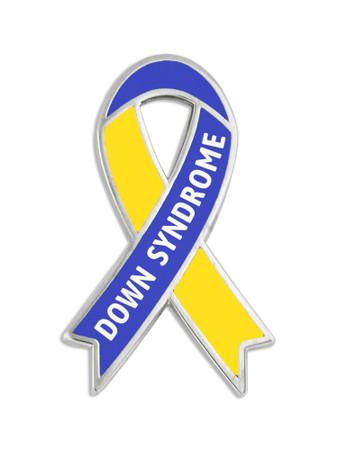 Awareness Ribbon Pin - Down Syndrome Front