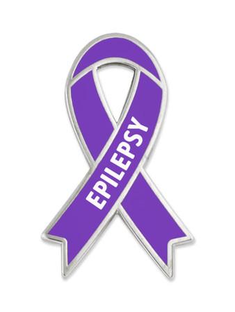 Epilepsy Awareness Ribbon Pin Front