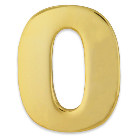 Gold Number 0 Pin Front