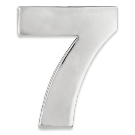 Silver Number 7 Pin Front