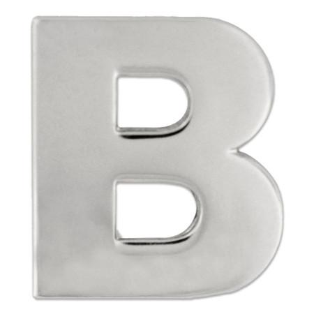 Silver B Pin Front