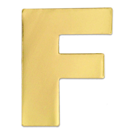 Gold Letter F Front