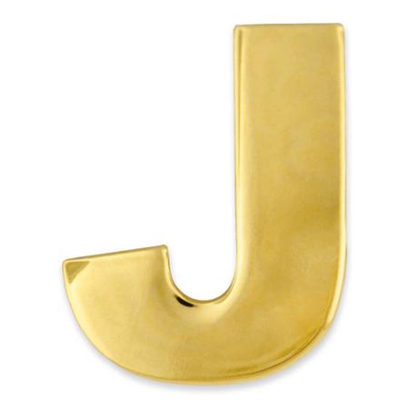 Gold J Pin Front