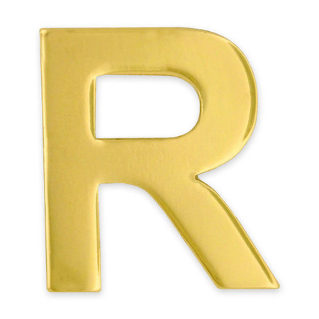 Gold R Pin Front
