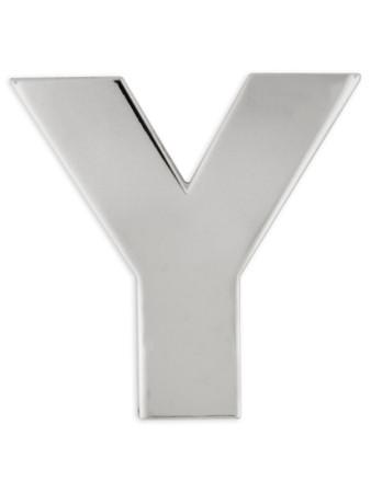 Silver Y Pin Front
