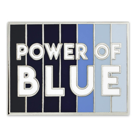 Power of Blue Lapel Pin Front