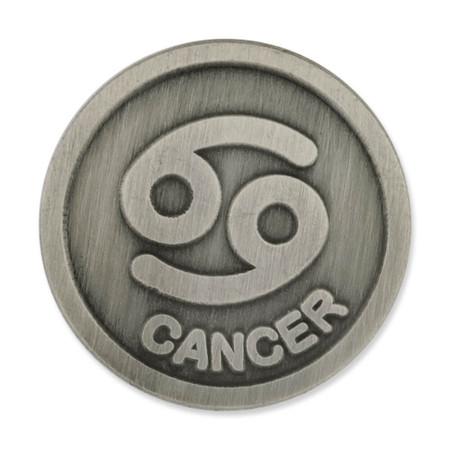 Antique Silver Cancer Zodiac Pin Front
