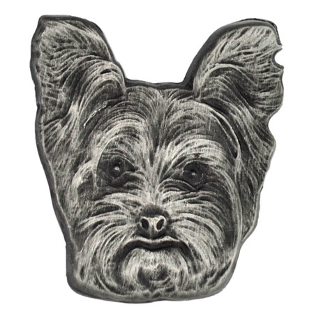 Yorkshire Terrier Dog Pin Front