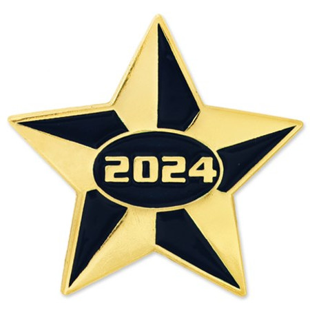 2024 Blue and Gold Star Pin Front
